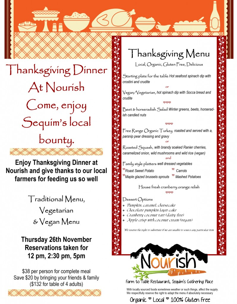 Join us for thanksgiving dinner nourish for Thanksgiving dinner with all the trimmings