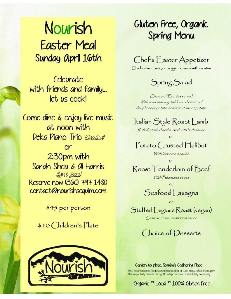 Easter menu 2017
